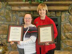 Page - Abby & Darlene with Awards